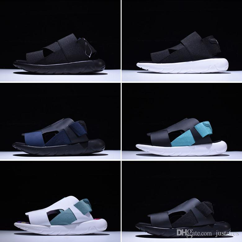 6ee47111a 2018SS High Quality Y3 QASA Elle Stretch Sandal Fashion Summer Breathable  Beach Shoes Men And Women Slippers Outdoor Shoes Sandles Wedge Booties From  ...