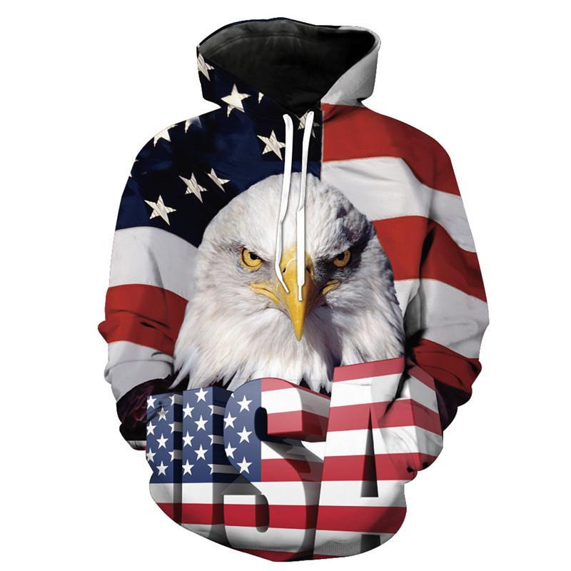 Compre Dropshipping Harajuku Sudadera Con Capucha Mujeres Hombres Eagle  Bandera Americana 3D Sudadera Con Capucha Prendas De Vestir Jersey Impresión  Jumper ... be77987796b
