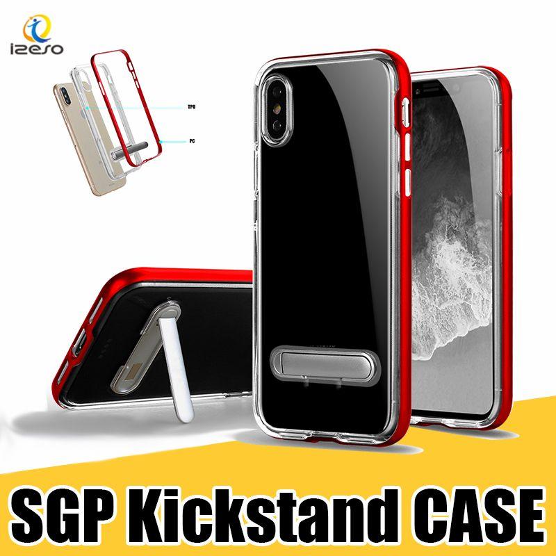 95bda56ae5d For IPhone XS MAX XR X 8 7 Plus Kickstand Case Hybrid Clear TPU Back ...