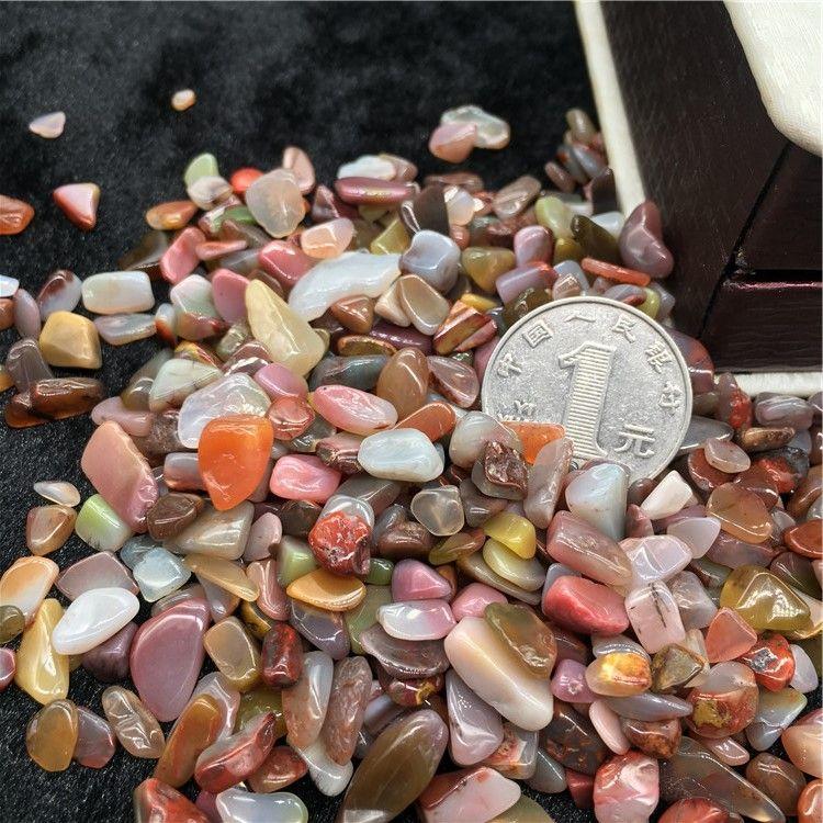 50g agate Irregular Tumbled Stones Gravel Crystal Healing Reiki Rock Gem Beads Chip for Fish Tank Aquarium Decor