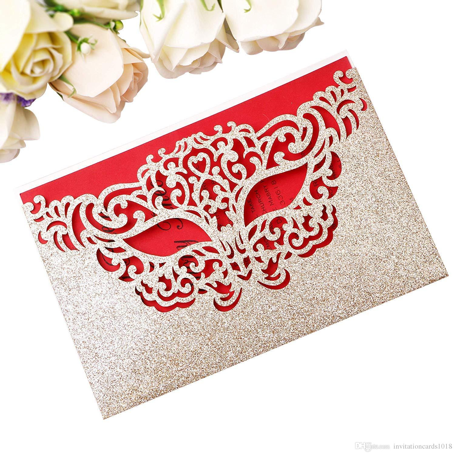 New Arrival Mask Invitation Cards For Makeup Masquerade Party ...