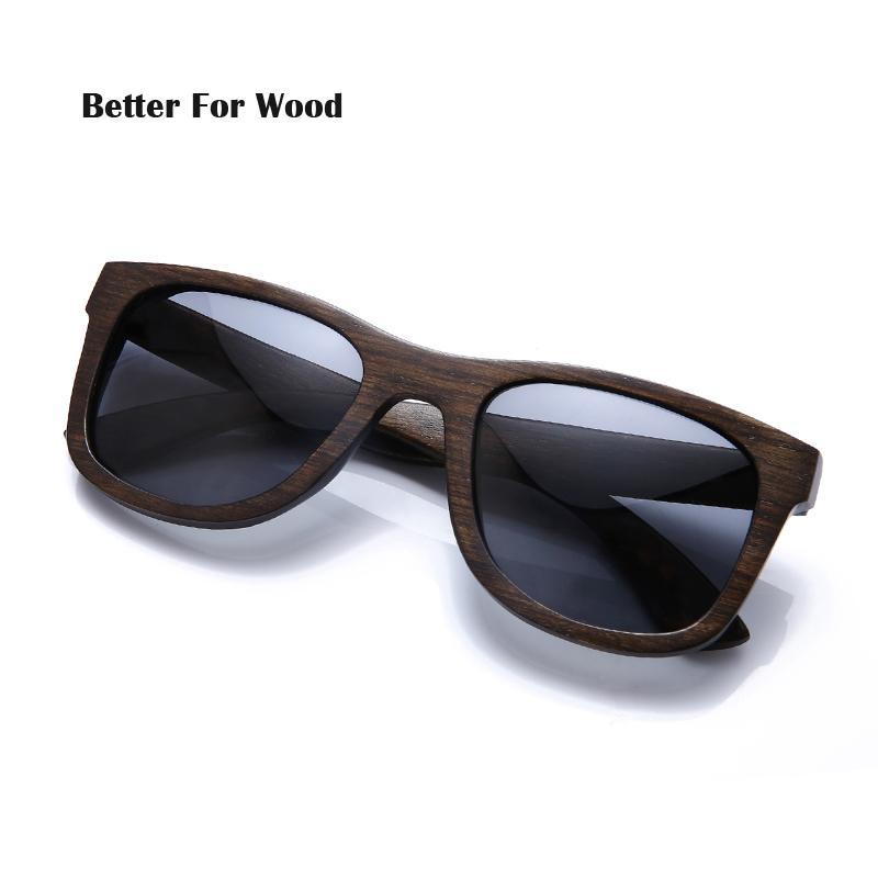 9d7389f9c4c84 Men Women Cool Wooden Sunglasses Fashion Polarized Wood Bamboo ...