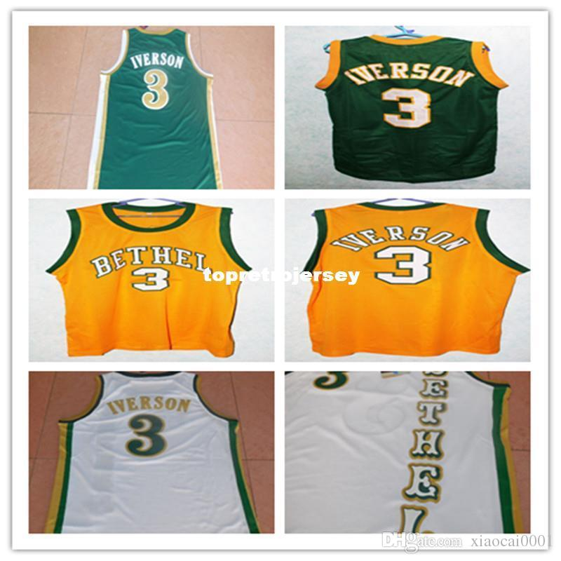 cfe15cc5859 2019 Cheap #3 ALLEN IVERSON BETHEL HIGH SCHOOL Retro Vest T Shirt JERSEY  Embroidery Stitched Personalized Custom Any Size And Name Jersey From  Xiaocai0001, ...