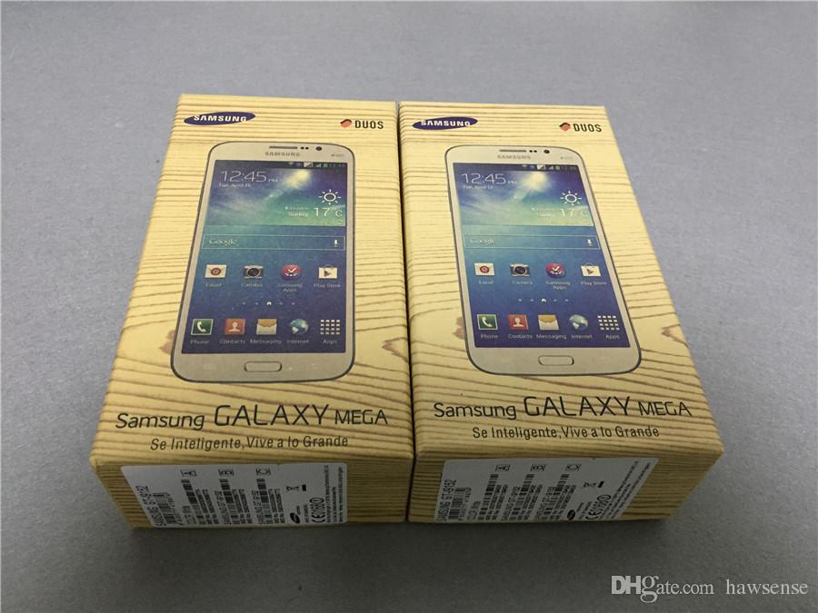 Renovierte Original Samsung Galaxy Mega 5.8 I9152 Dual Sim 5.8 Zoll Dual Core 8GB ROM 8MP 3G Network Unlocked Android Phone Free DHL