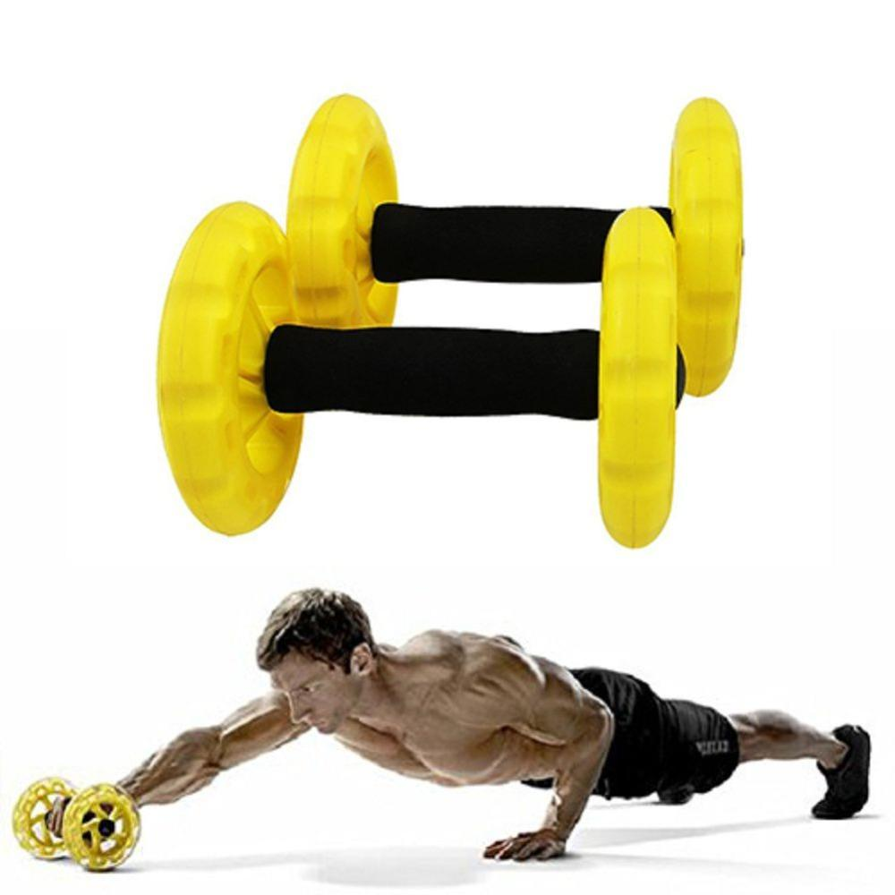 1c491f5410 2019 New Crossfit Abdominal Ab Roller Trainer Body Building Ab Wheels Core  Waist Exerciser Fitness Equipment For Home From Jianpin