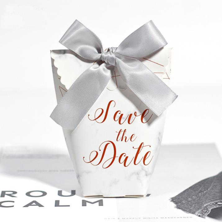 Marble Pattern Gift Bags Wedding Favors Candy Boxes Bomboniera