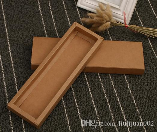 Factory outlets can be printed logo Kraft paper Packing boxes drawer rectangular box 24.2*7*2.2cm