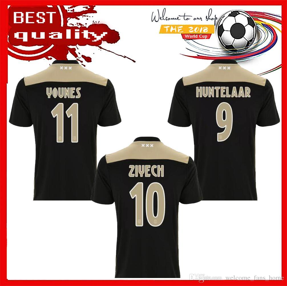 97afda077 ... cheap 2018 2018 2019 ajax fc soccer jersey 9 huntelaar 10 ziyech 25  dolberg neres schone ...