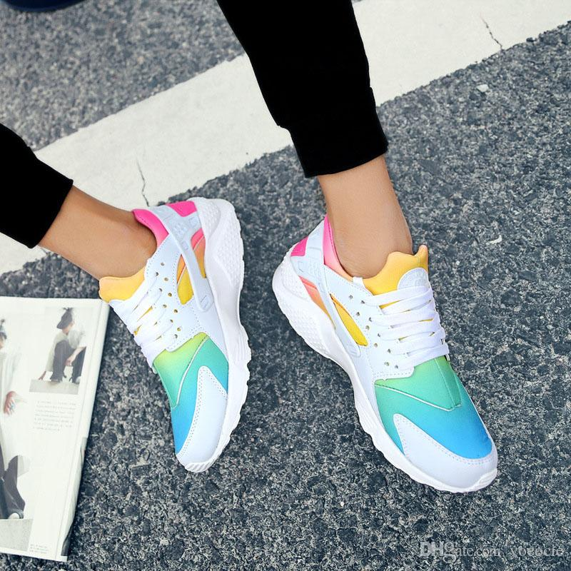pick a best for sale explore sale online hot Rainbow Sky Blue Running Shoes for Men and Women Huaraches Ultra Shoes Multicolor Black Huarache White Sneakers xz147 2014 newest cheap price comfortable sale online vvNreY