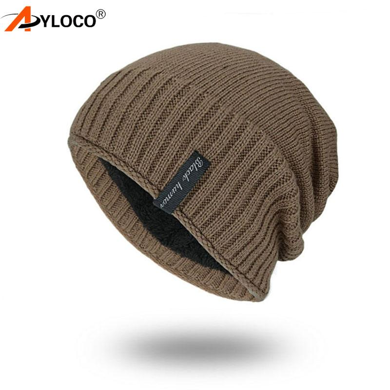 2019 Men S Winter Hat 2018 Fashion Knitted Black Hats Fall Hat Thick Warm  And Bonnet Skullies Beanie Soft Knitted Beanies Cotton From Newhappyness f0d294eceb80
