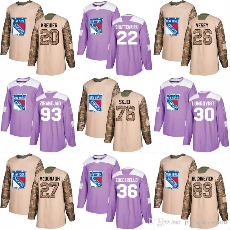 check out 82f92 13157 New York Rangers Jersey Veterans Day Fights Cancer Practice 22 Kevin  Shattenkirk 30 Henrik Lundqvist 36 Mats Zuccarello 93 Mika Zibanejad