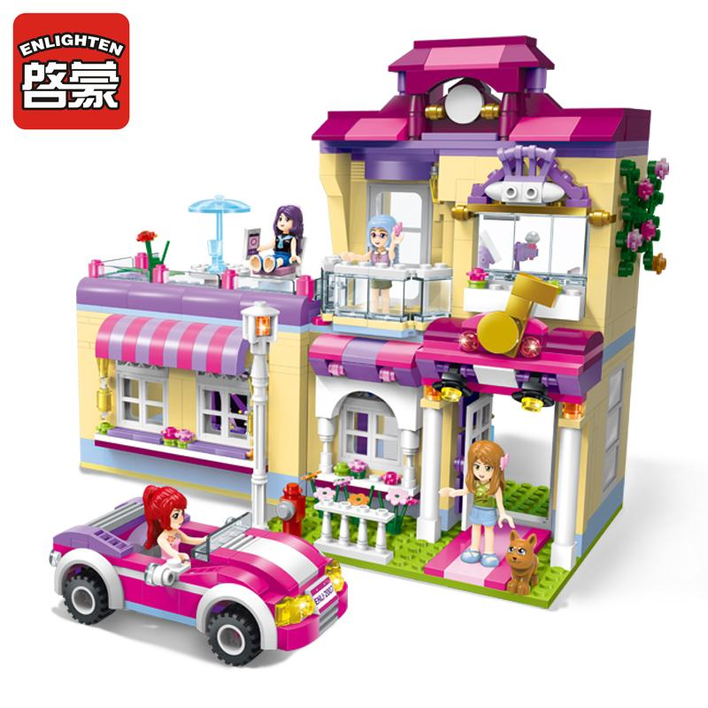 Building & Construction Toys 1000pcs City Stacking Blocks Diy Creative Bricks Friends Figures Brinquedos Educational Toys For Children Christmas Gift Stacking Blocks