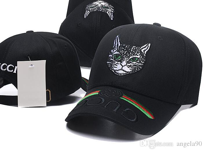 72f510373da 2018 Designer Mens Baseball Caps New Brand Cat Head Hats Gold Embroidered  Bone Men Women Casquette Sun Hat Gorras Sports Cap Drop Shipping Brixton  Hats ...