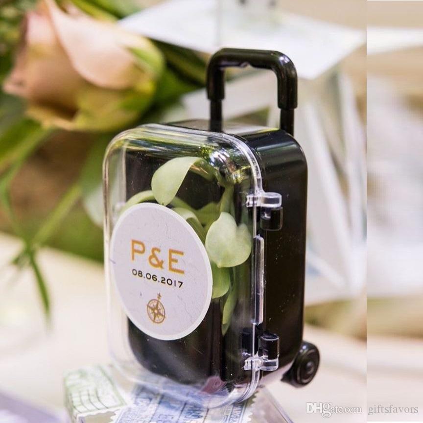 Diy Mini Rolling Suitcase Favors Wedding Favour Bridal Shower