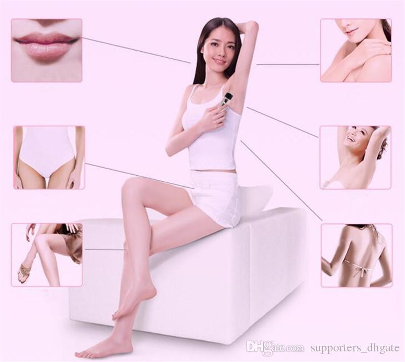 Bırak Moda Elektrikli Tıraş Makinesi Razor Giyotin Wax yüz epilasyon Kadınlar mini taşınabilir Pembe Ağrısız sakal Sökücü Makinesi Vücut ...