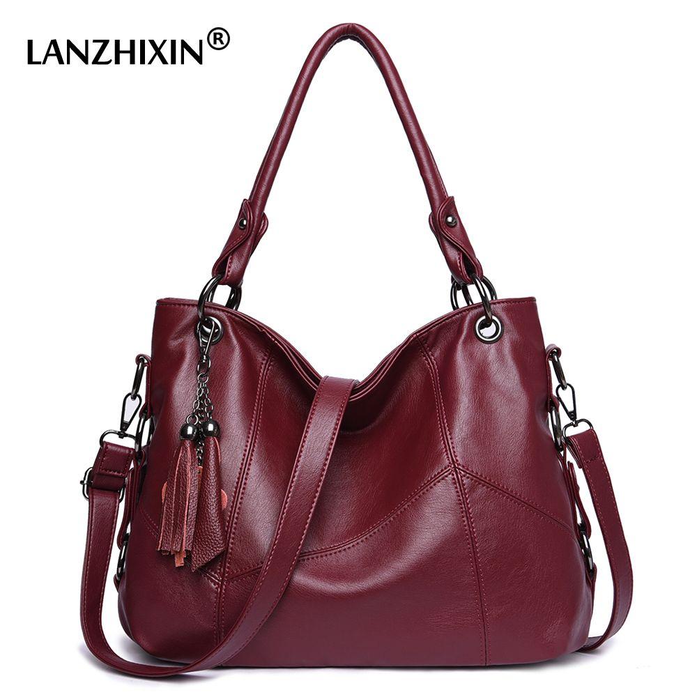 9ab8f7bc82 Lanzhixin Women Leather Handbags Women Messenger Bags Designer ...