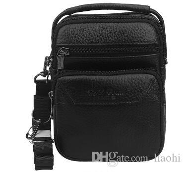 6e024fd14b 2019 Homme 100% Genuine Leather Mens Messenger Bags Small