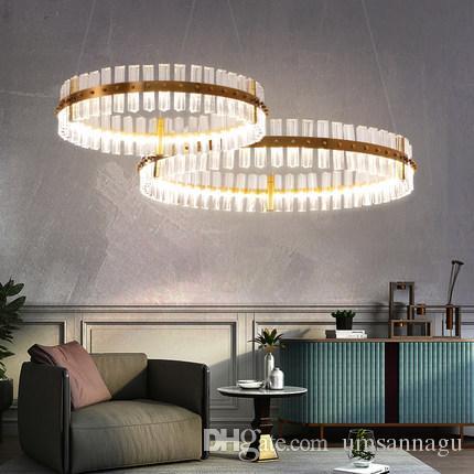 LED Moderne Kristallleuchter Europäische Glänzende Kristallleuchter  Beleuchtung Leuchte Hängende Lampen Schlafzimmer Wohnzimmer Wohnzimmer  Lobby ...