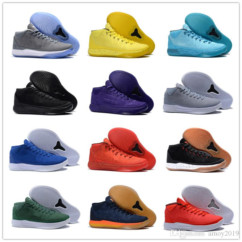 09464c802566 2018 Top Quality Kobe 5 AD Mid Fearless Black Gold Basketball Shoes Mens  Trainers KB 5s Detached Blue Wolf Grey Sports Sneakers Size 40 46 Shoes For  Sale ...