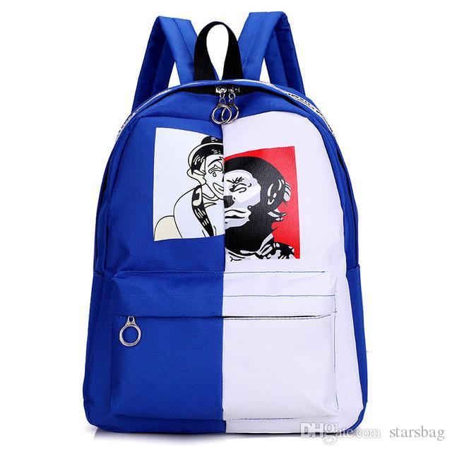 5a52f0d96c Cartoon Printing Canvas Backpack Girls School Bags Women Daily Backpack  Children Bookbag Shoulder Backpacks Gift Bag Q 110 Backpacks For Boys Hype  Backpacks ...
