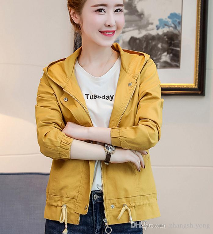 Free send 2018 spring fashion pure color long sleeved cultivate one's moral character jacket