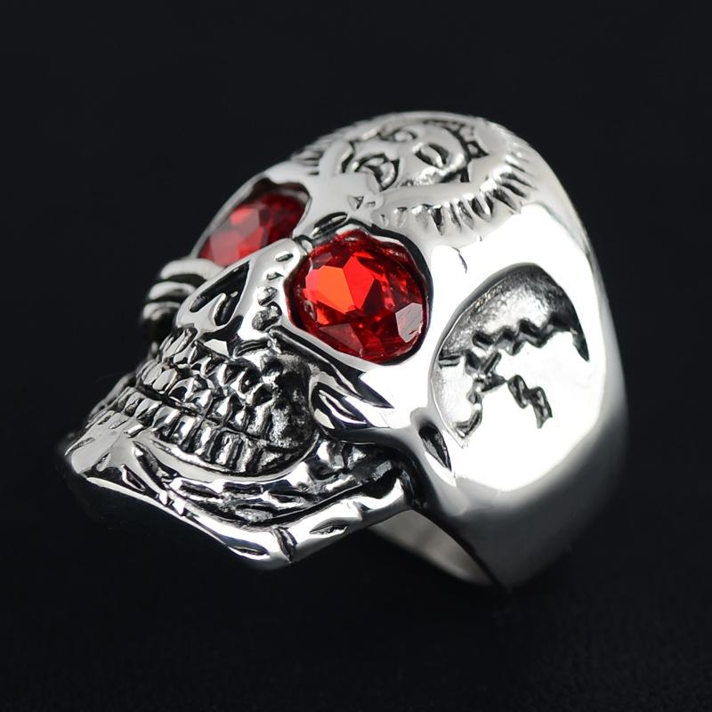 2019 New Steel Titanium Skull Bone Shape Finger Ring Decorate Many