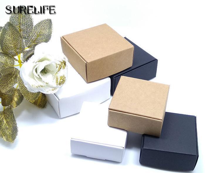 Grosshandel 50 Stucke 7x7x3 Cm Naturliche Handwerk Papier Box