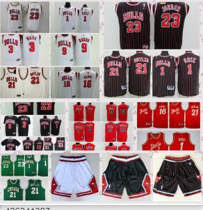 1f7587bb1 2018 2018 Chicago Bulls 3 Jersey Shorts 23 M J 1 Rose 3 Wade 21 Jimmy Butler  9 Rondo Jersey Shorts From Qh jersey