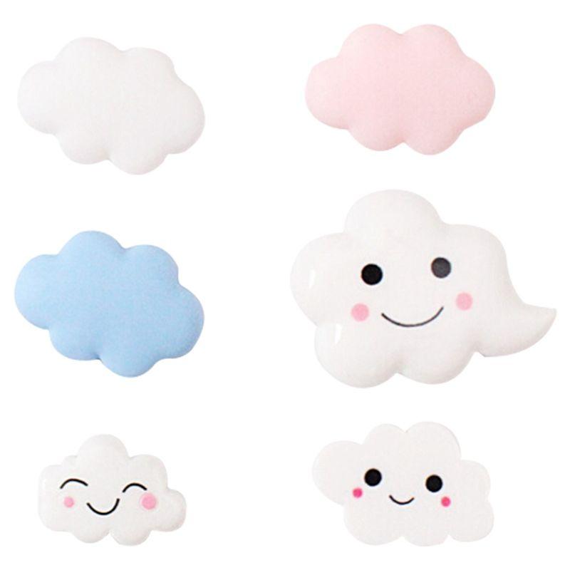 Satın Al Bulut Buzdolabı Sticker Beyaz Bulut Boyama Reçine Manyetik