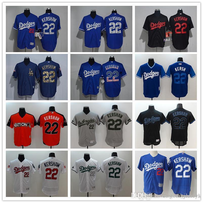 Men s Women Youth LA Dodgers Baseball Jersey  22 Clayton Kershaw ... 30a70a7b3a4