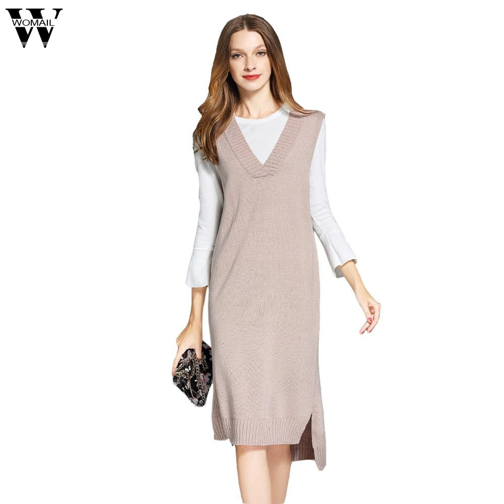 WOMAIL Long Vest Sweater Dress Women Office Sexy Black Red Blue Turtleneck  Ribbed Midi Bodycon Sweater Dress Robe Femme O17 UK 2019 From Mujing 67338e380