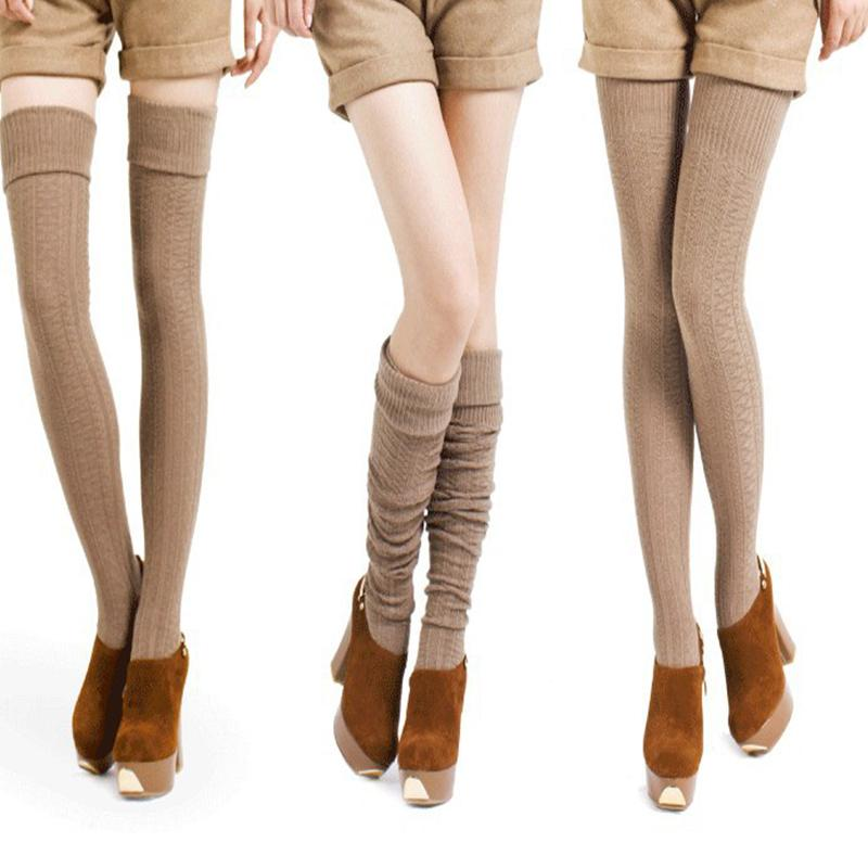 9a84f6ec3 Fashion Sexy Women    S Stockings Warm Long Socks Cotton Over Knee Socks  Women Winter High Thigh Knitted Stockings Stocking Kneehigh Socks Lace Knee  High ...