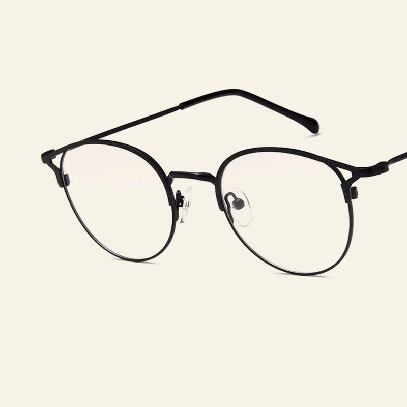 a0bff58130743 Compre 2018 Hot Moda Clássico Óculos De Armação Personalidade Olho De Gato Espelho  Plano Homens E Mulheres Com Retro Modelos De Óculos De Armação De ...