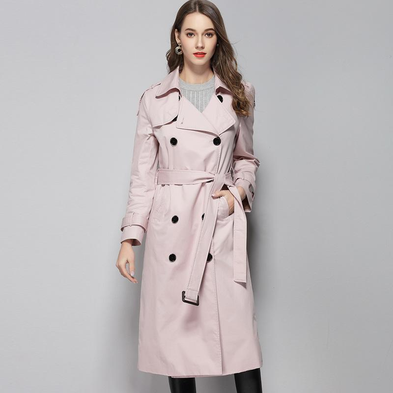 e31b0caffd 2019 Classic Trench Coat For Women Double Breasted Winter Trench Coats  Woman Plus Size Long Waterproof Raincoat Business Outerwear From Modleline,  ...