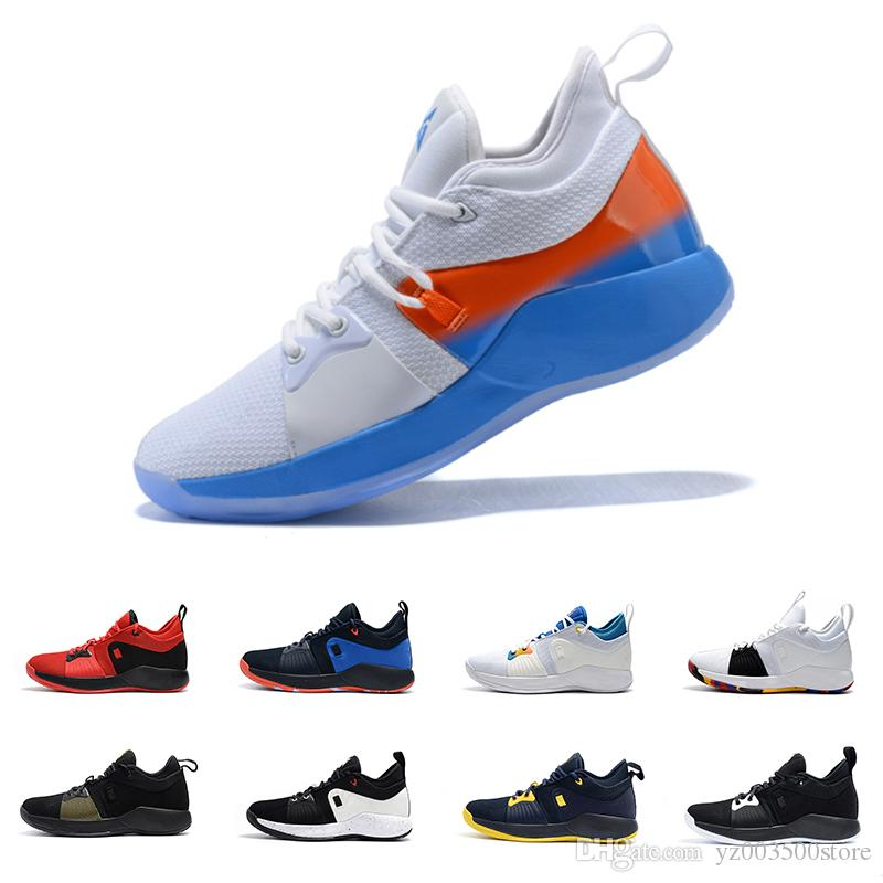 2019 2018 New High Quality Paul George PG 2 NCAA PlayStation Taurus Black  Black Red Male Basketball Shoes Sneakers From Yz003500store df535e3b94a