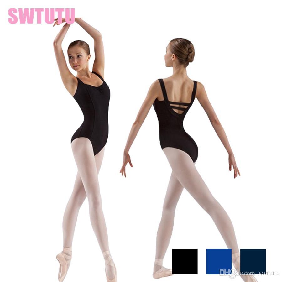 54aff77be270 2019 Hot Sale Black Sexy Cotton Gymnastics Ballet Loetard For Women Adult  Blue Dancing Costume Dancewear CS0109 From Swtutu, $11.56 | DHgate.Com