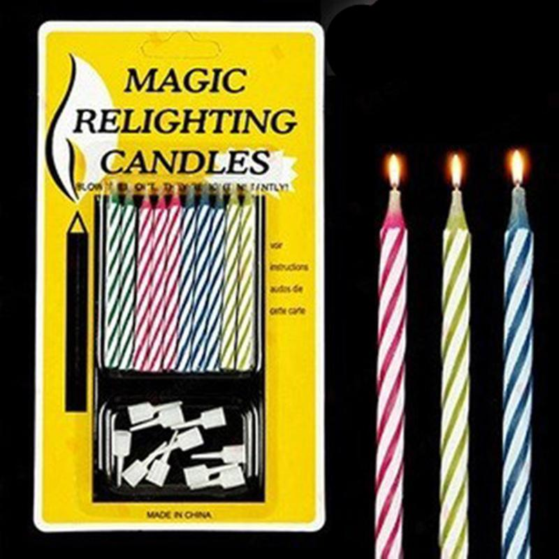 Magic Colorful Birthday Cake Candles Thread Blowing Funny Tricky Toy Eternal Wedding Unity Candle From Smtzh03