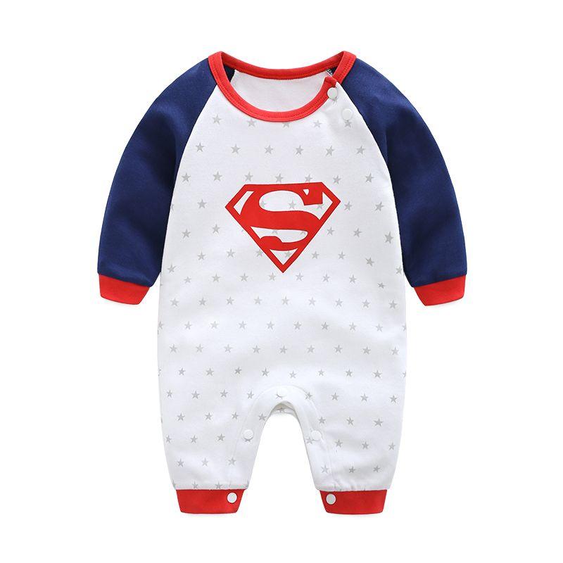 2602e92d3bb5 2019 2018 New Fashion Cartoon Cotton Kids Boy Clothes Jumpsuit ...