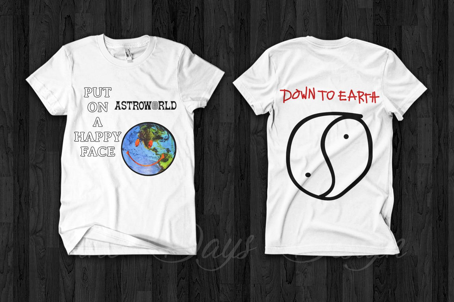 7caa54b48bd1 Travis Scott Astroworld Merch 2018 Anti Tour Down To Earth Official Logo T  Shirt Funny Tee Shirts Hipster O Neck Cool Tops Australia 2019 From  Guccitshirts, ...