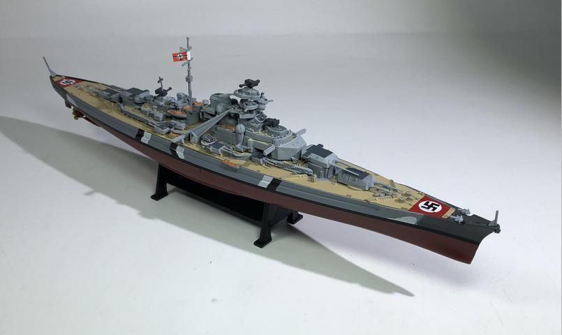 Collection Mondiale Statique Bismarck Modèle Jouet Cuirassé Navire De Plastique Guerre Terminé Alliage Simulation En 11000 Deuxième CWrxBeod