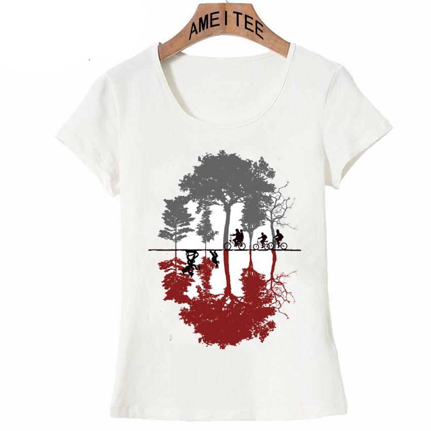 Wholesale New Arrival T Shirt Women Stranger Things Design Ladies T Shirts  Looking For The Upside Down T Shirt Short Sleeve Tops Girl Tee T Shirts  Designs ... 4ae9c3966