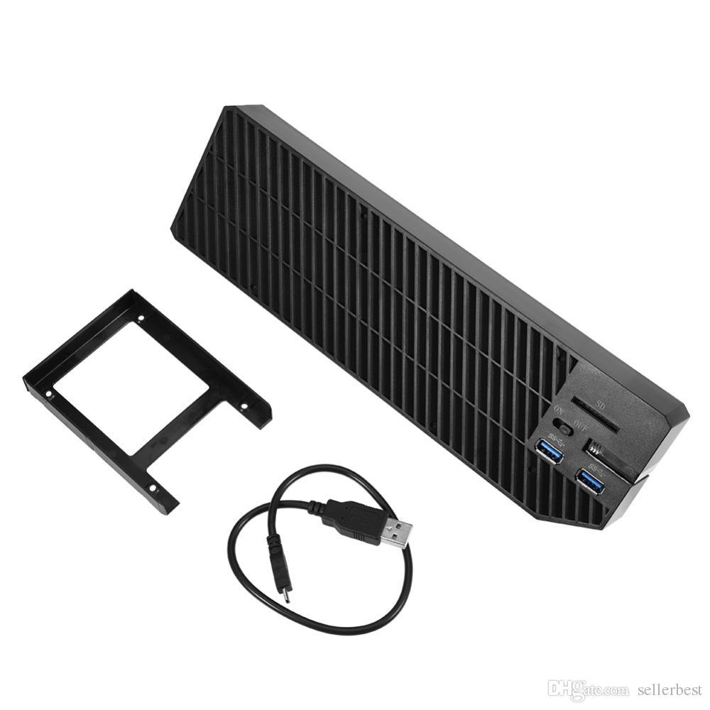 Expansão Externa SATA HDD / SSD de 2.5 Polegadas w / 2 USB 3.0 HUB Ventilador de Refrigeração para XBOX ONE