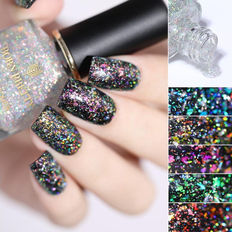 Born Pretty Chameleon Nail Polish Glitter Sequins Aurora Bright Oil