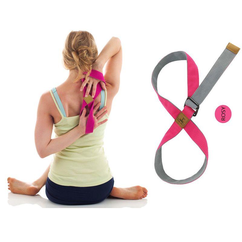 Adjustable Yoga Strap Belt Extra Long Metal Lock 8 Shape Sport Yoga Stretch Strap  Belt Gym Waist Leg Pilates Fitness Yoga Band UK 2019 From Wanshuaishuai d6ff6353a694