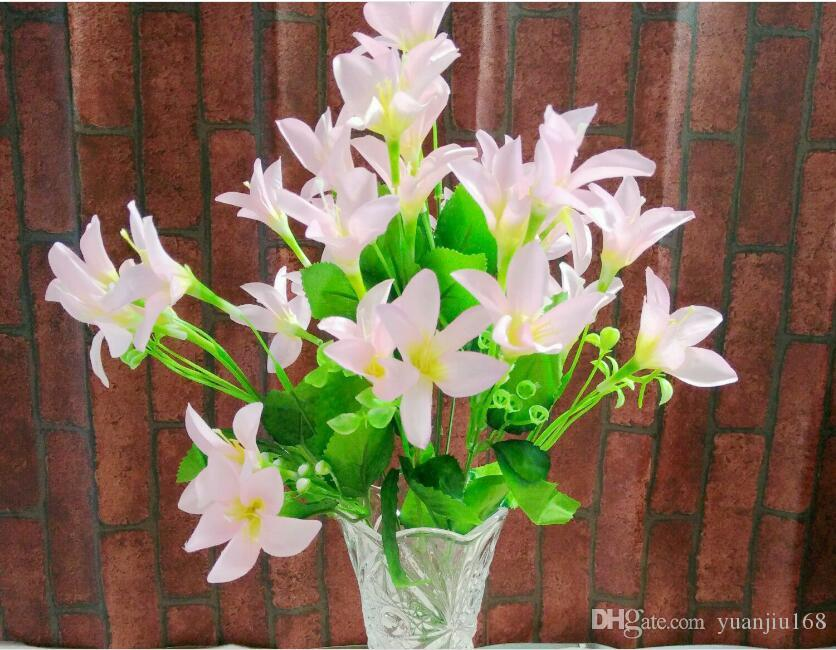 10 fork 30 head high-grade flower simulation beam into the living room decoration decoration flower Narcissus lily flowers L053