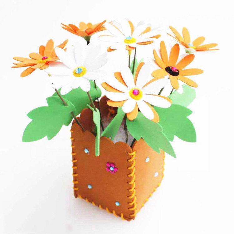 2019 Artificial Decorative Flower Kids Diy Craft Educational Toy