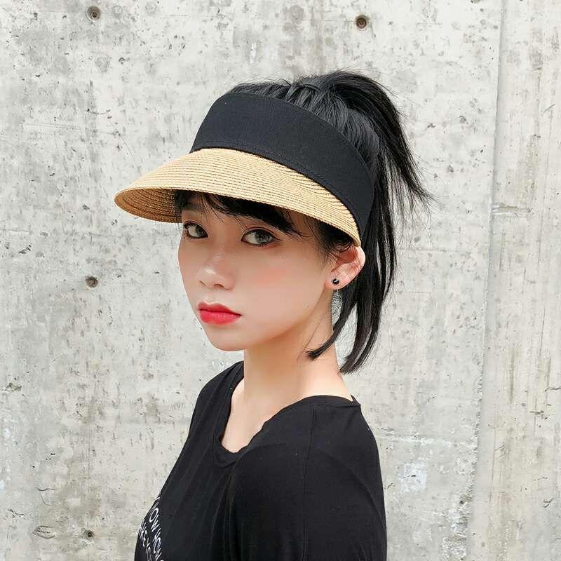 Sun Hats Women Wide Large Brim Floppy Summer Beach Sun Hat Straw Hat Button  Cap Summer Truck For Women Anti Uv Visor Cap Female Hats And Caps Fedora  Hats ... b07cb0ad8a1