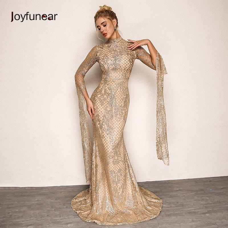 Joyfunear Women Vintage Long Party Dress 2018 Summer Autumn New ... 86fdb63feedd