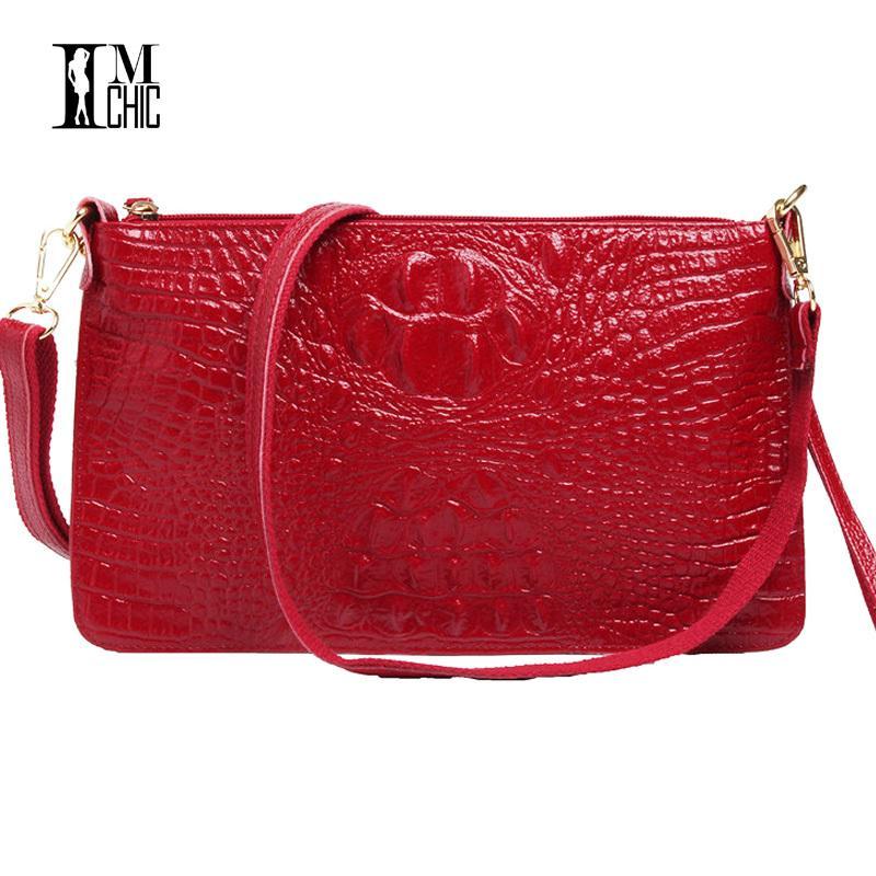 2a9b1d883b61 2018 Summer Ladies  Handbag Small Women Should Bags Vintage Leather  Crocodile Envelope Clutch Messenger Bag Female Designer Gift Y18110101 Womens  Bags Black ...