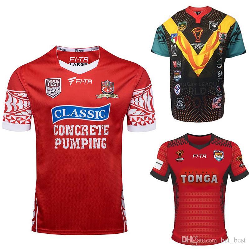 f31ee9bf9db Tonga Rugby League 2017 Mate Ma'a Tonga Pacific Test Jersey RLWC2017 ...